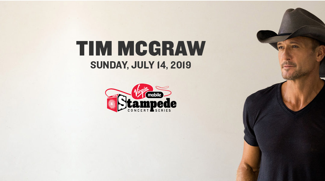 Tim McGraw hits the stage for the 2019 Calgary Stampede's final night at the Virgin Mobile Stampede Concert Series